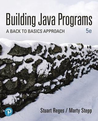Building Java Programs textbook